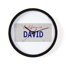 California David Wall Clock