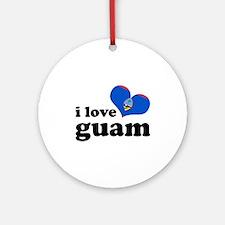 I Love Guam Ornament (Round)