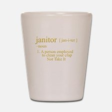 funny janitor Shot Glass