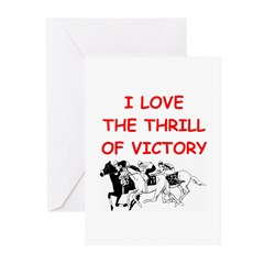 horse racing Greeting Cards (Pk of 10)