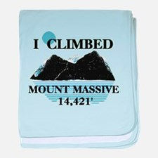 I Climbed Mount Massive baby blanket