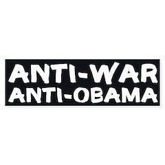Anti-War, Anti-Obama bumper sticker