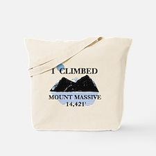 I Climbed Mount Massive Tote Bag