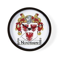 Noonan Coat of Arms Wall Clock