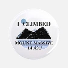 "I Climbed Mount Massive 3.5"" Button"