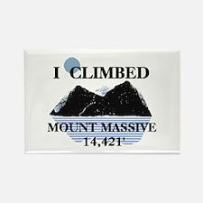 I Climbed Mount Massive Rectangle Magnet