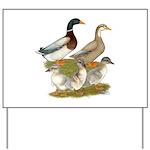 Saxony Duck Family Yard Sign