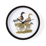 Saxony Duck Family Wall Clock