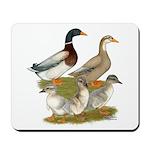 Saxony Duck Family Mousepad