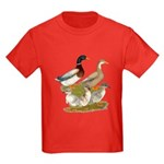 Saxony Duck Family Kids Dark T-Shirt