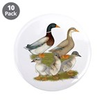 """Saxony Duck Family 3.5"""" Button (10 pack)"""