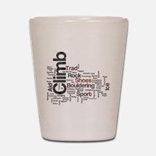 Climbing Words Shot Glass