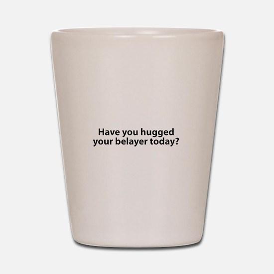 Hugged Your Belayer? Shot Glass