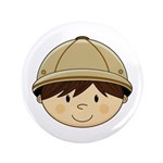 "Cute Safari Explorer 3.5"" Button (100 Pk)"