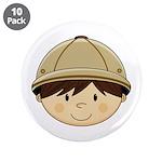 "Cute Safari Explorer 3.5"" Button (10 Pk)"