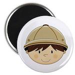 """Cute Safari Explorer 2.25"""" Magnet (10 pk)"""