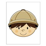 Cute Safari Explorer Small Poster