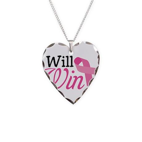 I Will Win Necklace Heart Charm