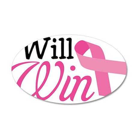 I Will Win 38.5 x 24.5 Oval Wall Peel