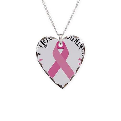 1 Year Survivor Necklace Heart Charm