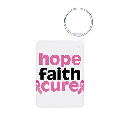 Hope Faith Cure Aluminum Photo Keychain