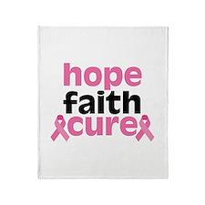 Hope Faith Cure Throw Blanket