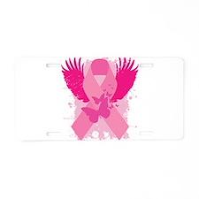 Pink Ribbon Design Aluminum License Plate