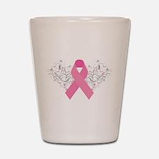 Pink Ribbon Design 3 Shot Glass