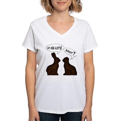 EASTER: My Ass Hurts Women's V-Neck T-Shirt