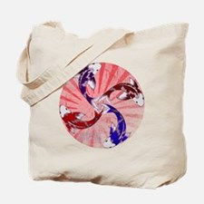 JAPAN UNITY FISH WITH FLAG Tote Bag