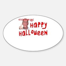 Pissed Off Halloween Sticker (Oval)