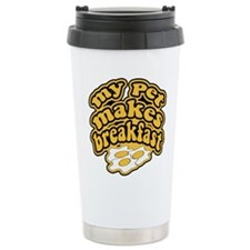 My Pet Makes Breakfast Travel Mug