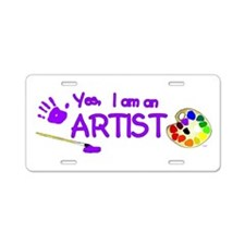 Cute Palette Aluminum License Plate