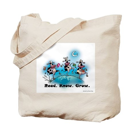 Moonlight Cows Tote Bag