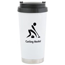Curling Rocks! Travel Mug