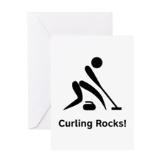 Curling Rocks! Greeting Card