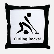 Curling Rocks! Throw Pillow