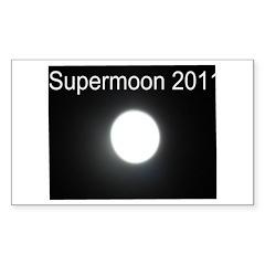 Supermoon 2011 Sticker (Rectangle)
