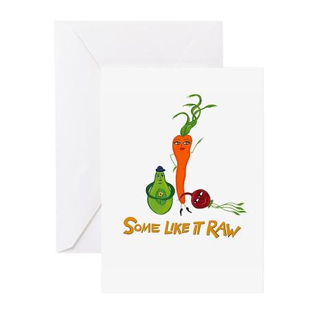 Some Like It Raw Veggie Trio Greeting Cards (Pk of