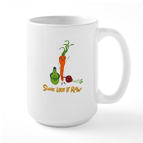 Some Like It Raw Veggie Trio Large Mug