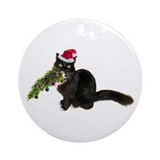 Cat Christmas Tree Ornament (Round)
