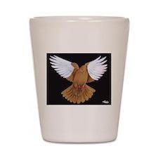 Domestic Flight Pigeon Shot Glass
