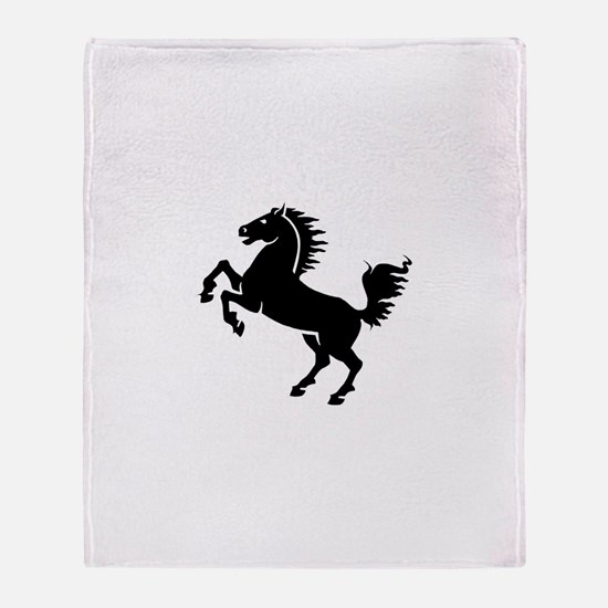 Wild Stallion! Throw Blanket