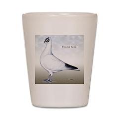 Polish Shortface Pigeon Shot Glass