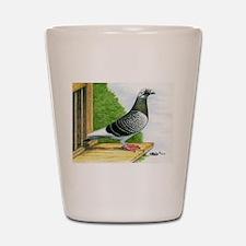 Racing Homer Pigeon Shot Glass