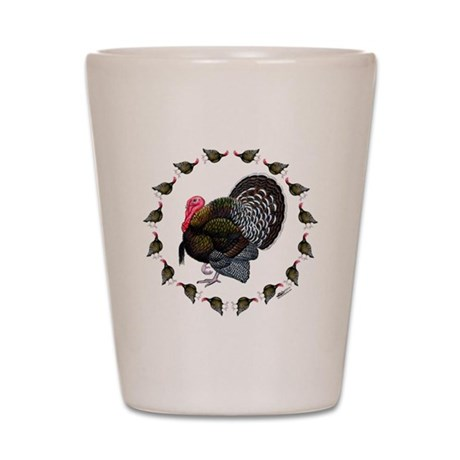 Turkey Circle Shot Glass