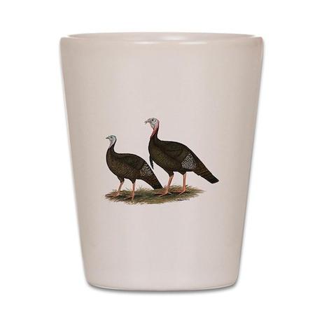 Eastern Wild Turkeys Shot Glass