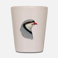 Chukar Partridge Head Shot Glass