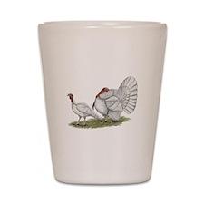 Turkeys: White Holland Shot Glass