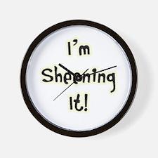 I'm Sheening It! Charlie Sheen Wall Clock